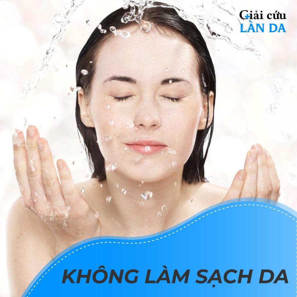 Làn da không được làm sạch liên tục