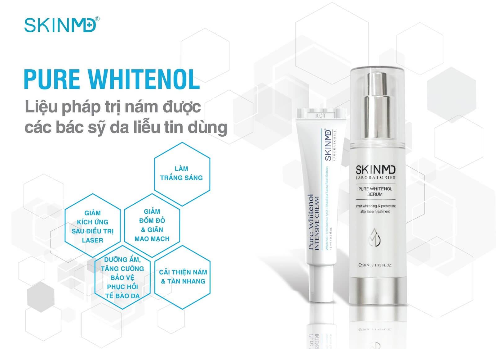 Mỹ phẩm Skin MD vitamin c trị nám
