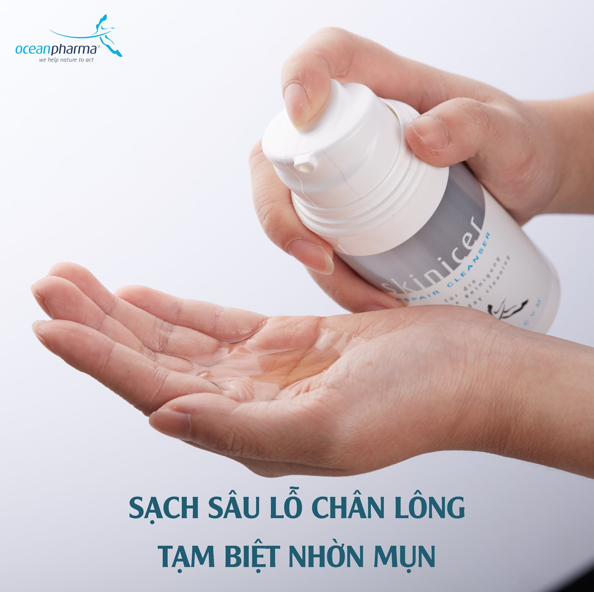 Sử dụng sữa rửa mặt xịn Skinicer