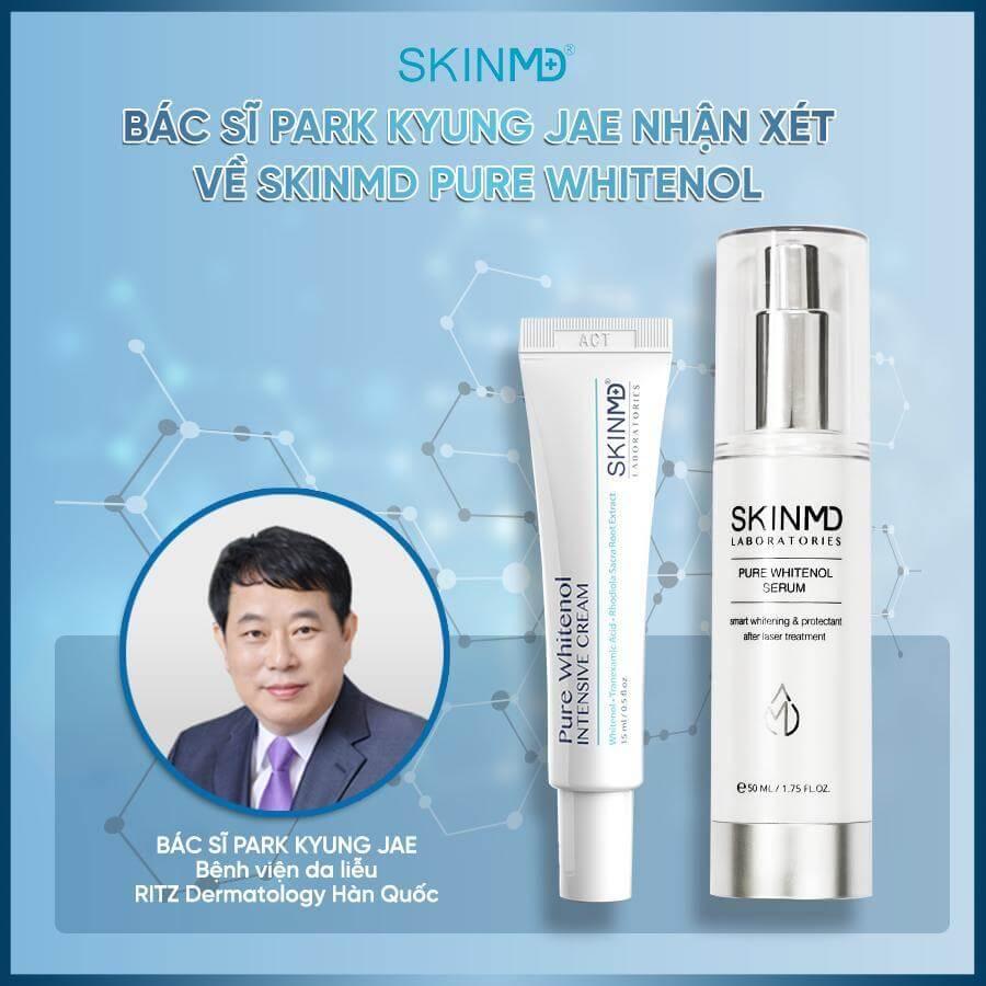 Bác sĩ Park Kyung Jae trả lời serum trị nám SkinMD có tốt không