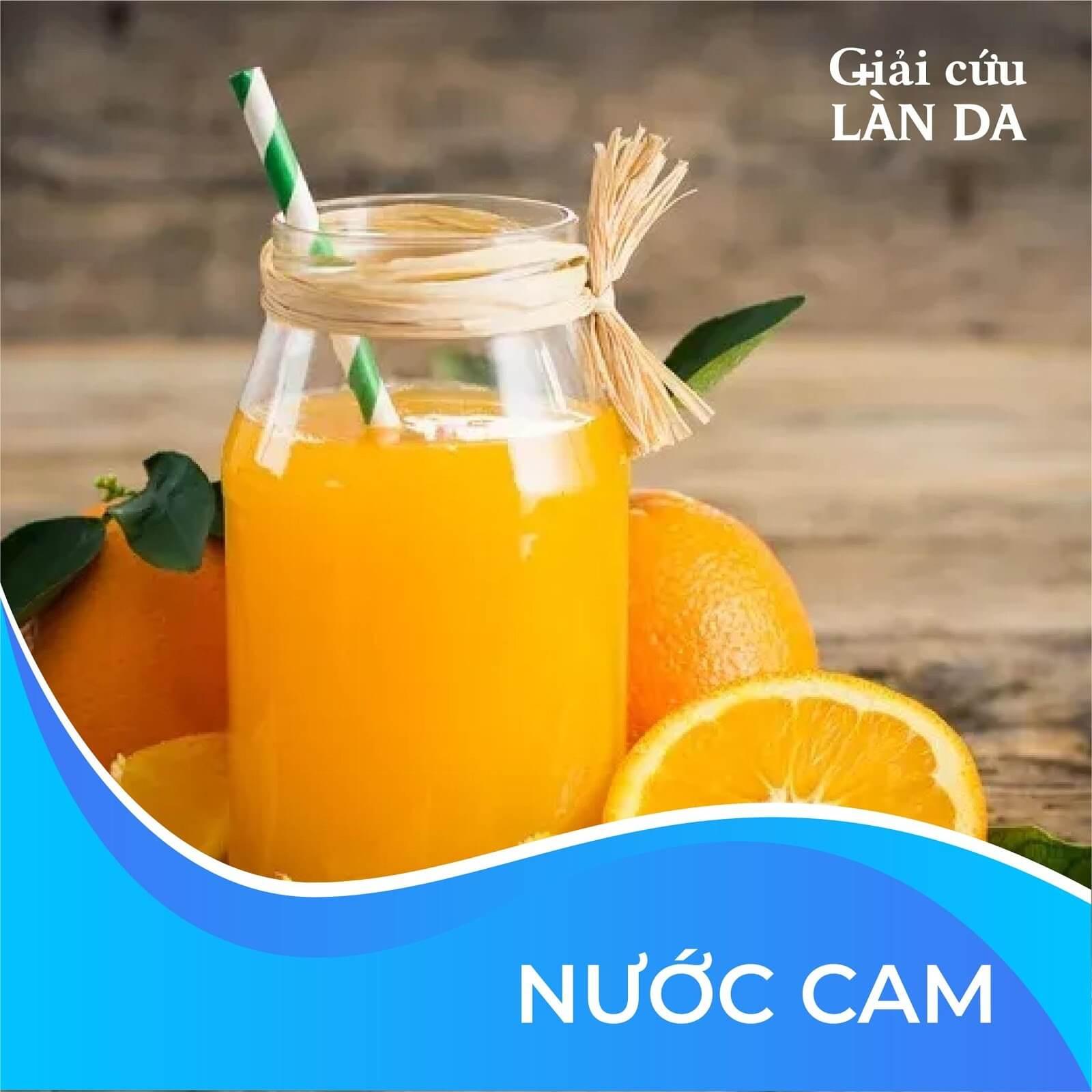Nước cam là câu trả lời không thể thiếu cho uống gì đẹp da hết mụn