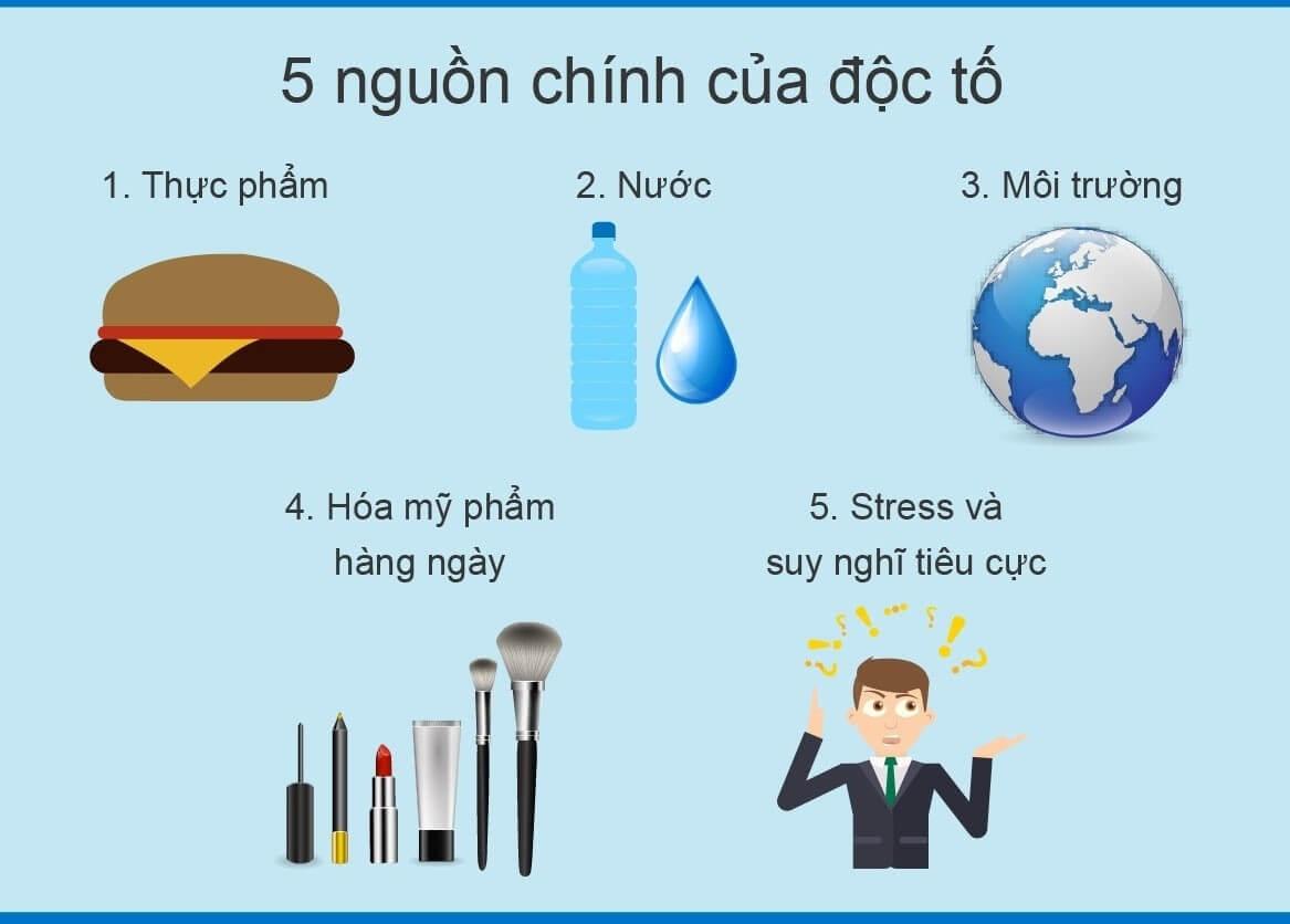 5 nguyên nhân chính khiến độc tố từng bước đi vào cơ thể