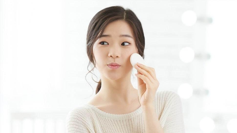 Làm sạch da vào cuối ngày