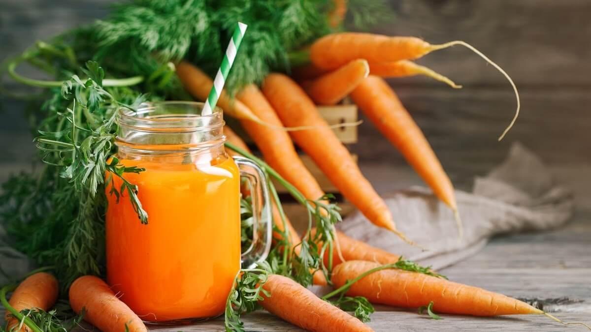 Nước ép cà rốt chứa nhiều vitamin a