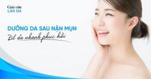 Dưỡng da sau nặn mụn để da nhanh phục hồi