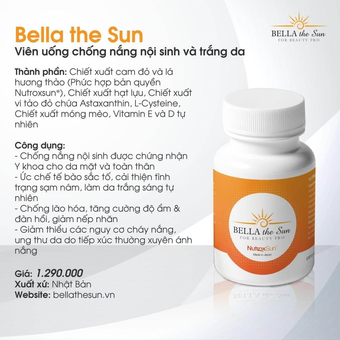 Thông tin viên uống Bella The Sun