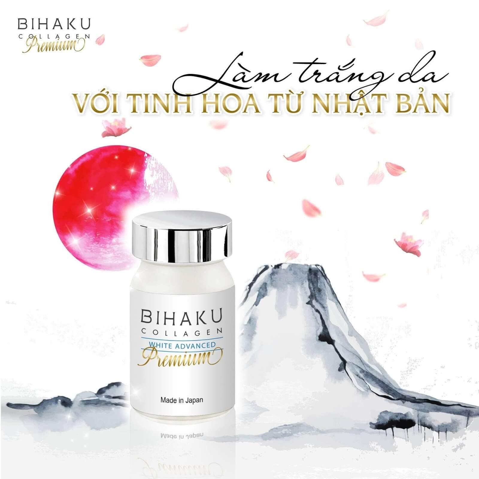 Làm trắng da với viên uống Bihaku từ Nhật Bản