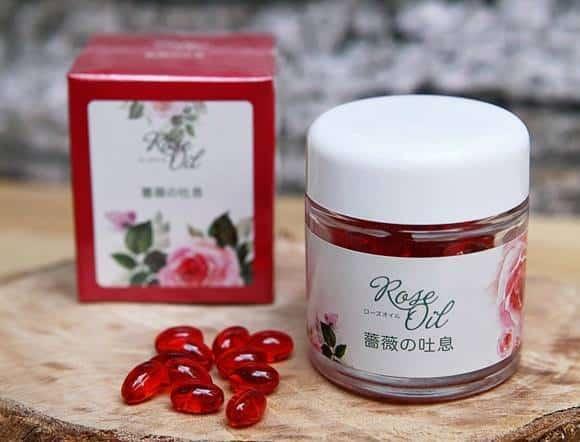 Viên Uống Khử Mùi Cơ Thể Chiết Xuất Hoa Hồng - Rose Oil